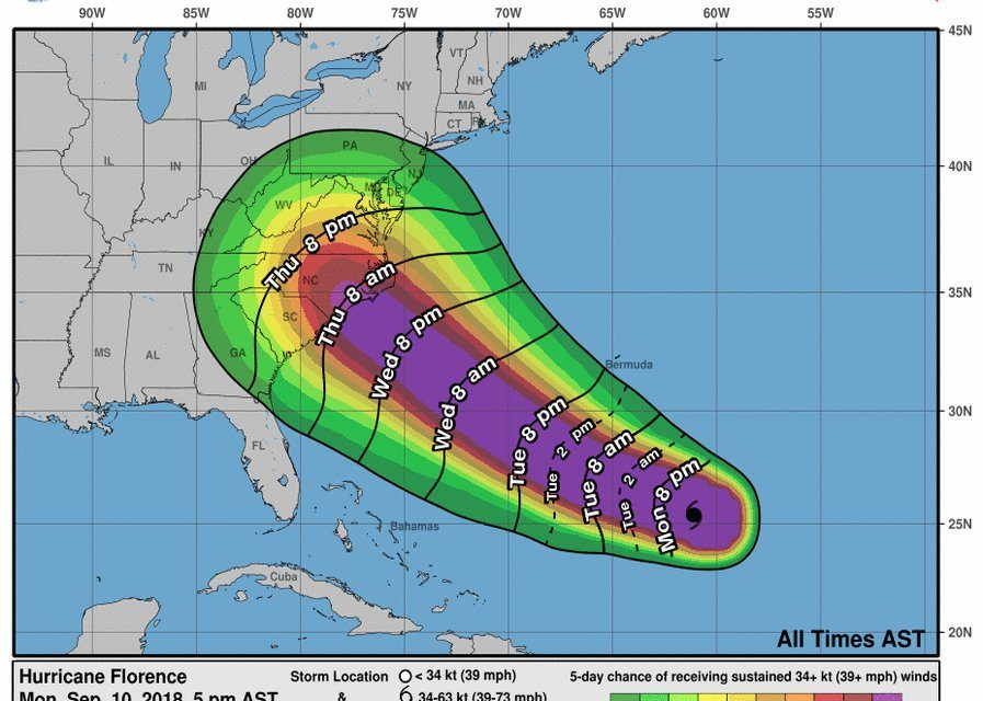 West Virginia Officials Keeping an Eye on Hurricane Florence