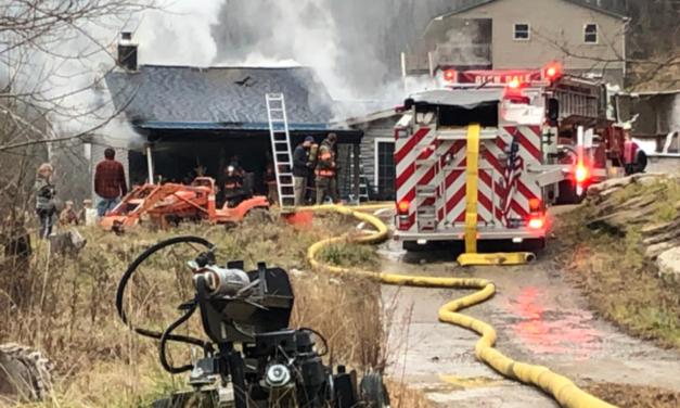 Firefighters Battle House Fire in Glen Dale