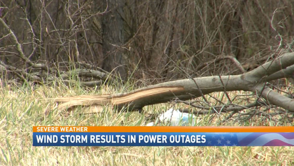 High Winds Cause Damage; Power Outages Throughout Ohio Valley